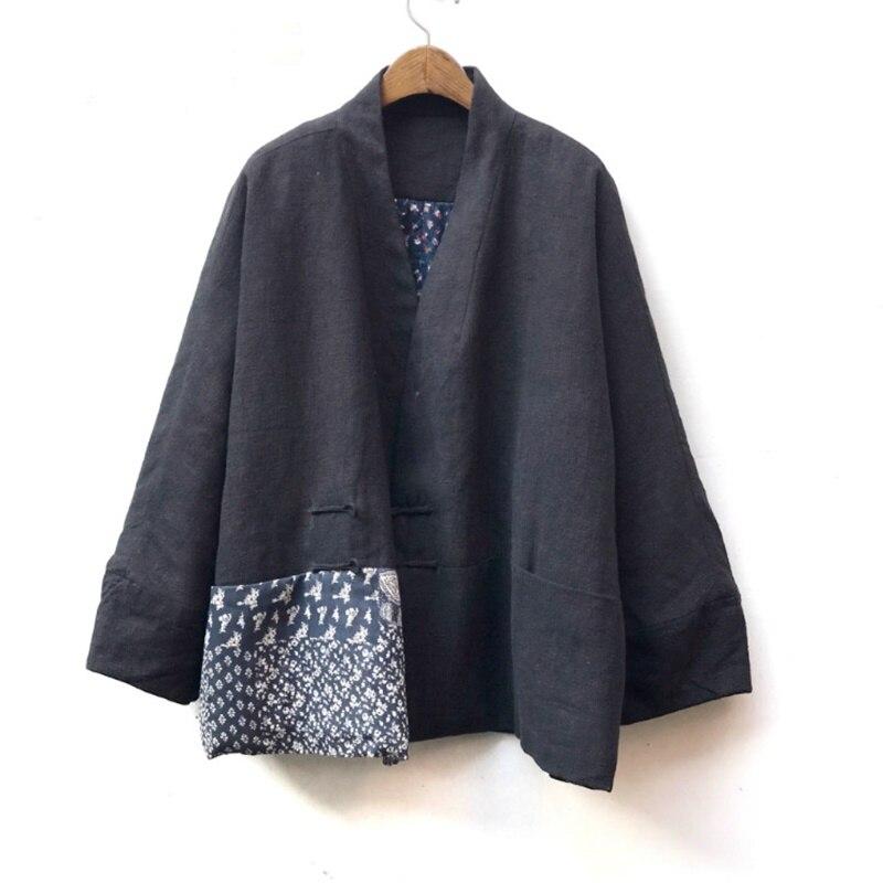Style chinois vêtements femmes Hanfu 2019 printemps été rétro Vintage chemise ethnique thé Zen Blouse dames chinois hauts AA4476 - 5