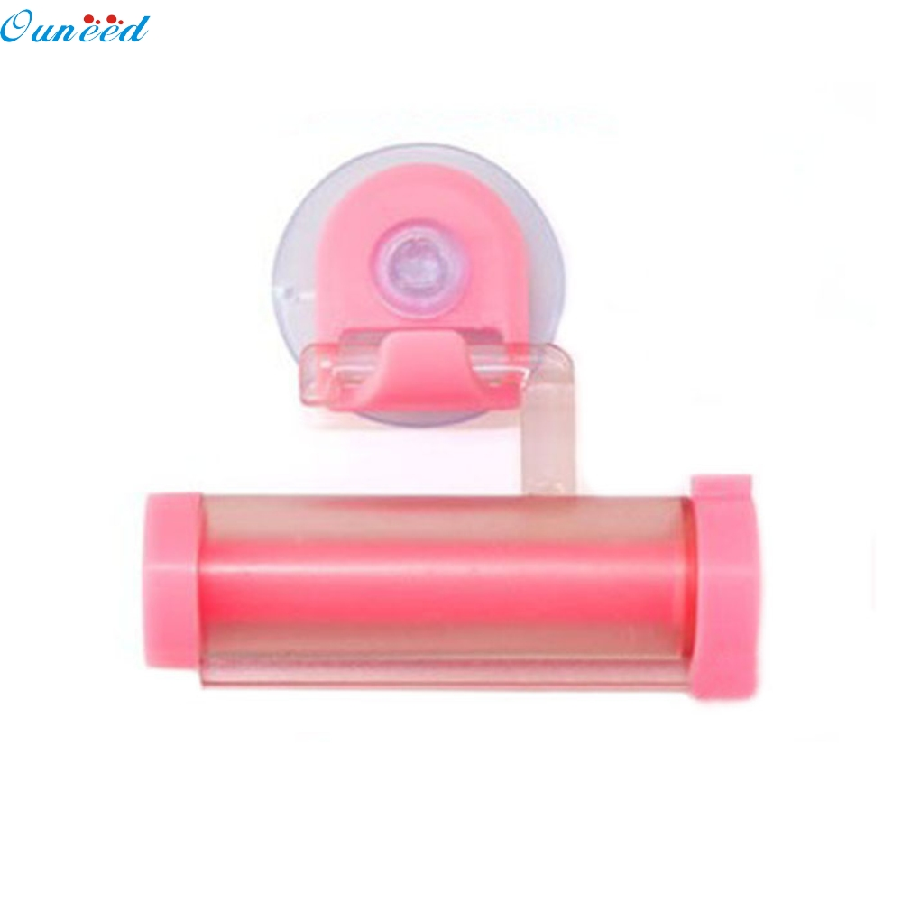 Ouneed Happy home Amazing Household Home Storage Organization Rolling Squeezer Toothpaste Dispenser Tube Sucker Hanging Holder