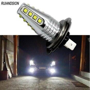 цена на 1pair 160W Super brightness 12-24V H7 led 2400lm CANBUS LED Bulb White Car Fog Driving light auto-styling