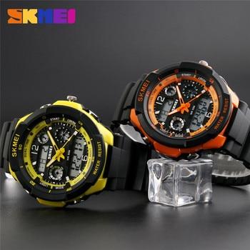 цена Skmei Brand Sports Watches Fashion Casual Watches Men's S-Shock Quartz Wrist Watch Analog Military LED Digit Watch Montre Homme онлайн в 2017 году