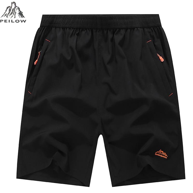 PEILOW men   shorts   for men summer Beach Male Fitness Men's casual elastic waist summer   short   plus size 10XL 9XL 8XL 7XL 6XL 5XL