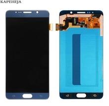 Baru Super AMOLED LCD untuk Samsung Galaxy Note 5 N920 N920A N920V N920F N920P LCD Display Rakitan Digitizer Layar Sentuh
