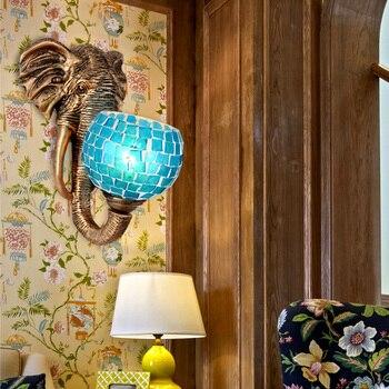 Avrupa Fil Bar Lambası Koridor ışıkları Yaratıcı Kişilik Oturma Odası Başucu Duvar Lambası Güneydoğu Asya Duvar Lambası LO72811