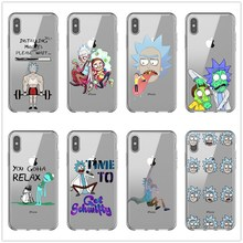Funny Rick and Morty soft silicone TPU Case for iphone X MAX XR 8 8Plus 7 7Plus 6 6S Plus SE 5S Mobile Protective Phone Cover цена