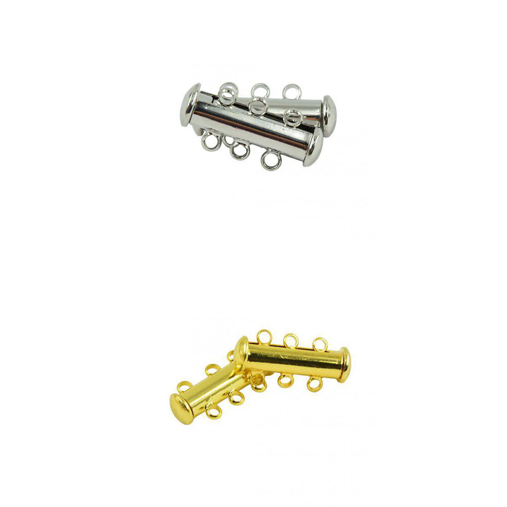 Pcs silver golden plated multi strand slide magnetic