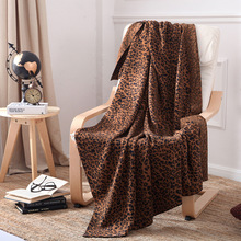 New Blanket Leopard Knit Sofa Cotton Yarn Photography Props Towel