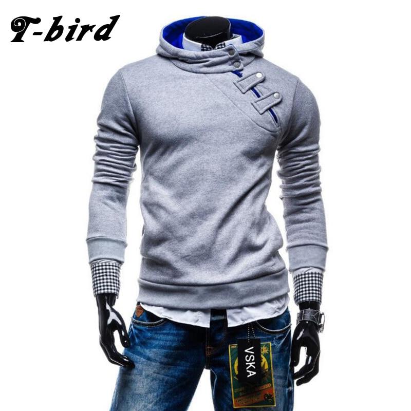 T Bird Hoodies Men Sudaderas Hombre Hip Hop Mens 2017 Brand Casual Zipper Male Hoodie Sweatshirt