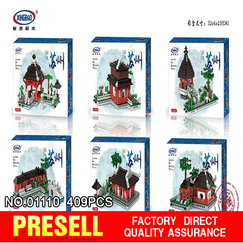 XingBao 01110 Building Toys Series The 6 in 1 Chinese Suzhou Garden Model Set Building Blocks Bricks Toys For Kids Gifts 8 in 1 military ship building blocks toys for boys