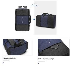 Image 5 - Мужской рюкзак BAIBU, многофункциональный водонепроницаемый рюкзак с защитой от кражи, 17 дюймов, USB, для ноутбука