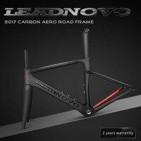 2018 NEW LEADNOVO Carbon Fiber Road Frame Di2 Mechanical Racing Bike Carbon Road Frame Fork Seatpost