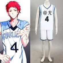 Kuroko no basuke anime Boys Baloncesto uniforme Akashi seijyuurou n° 4  Cosplay traje hombres ropa deportiva para Halloween ddf0a37ead3ba