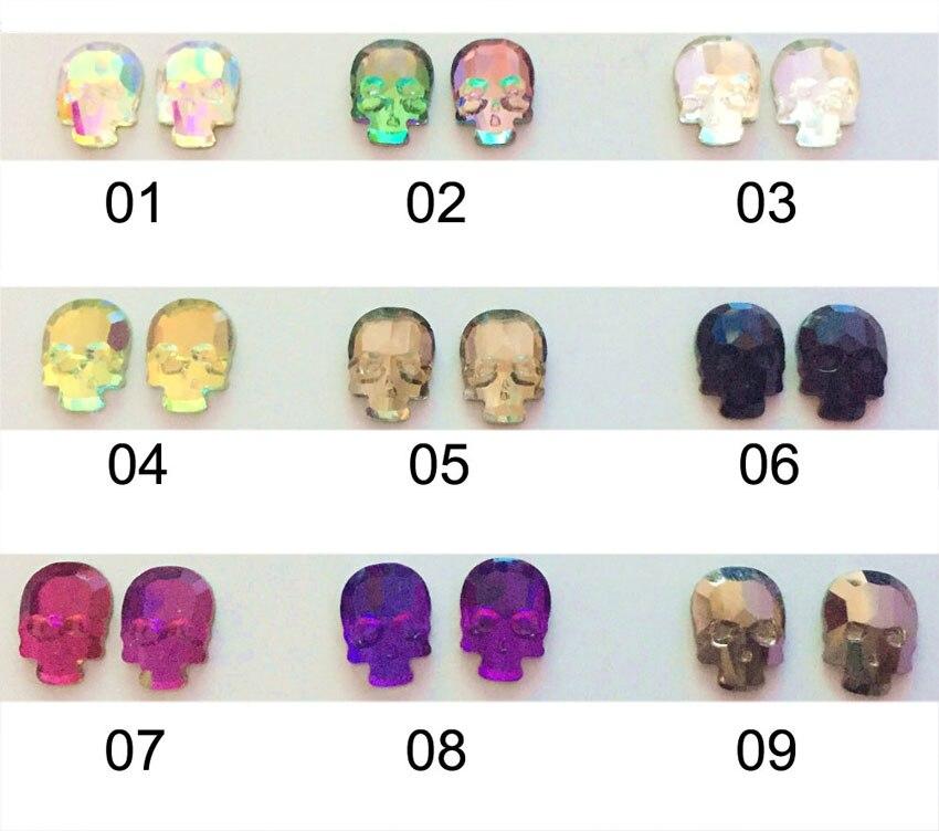 2017 Skull Head font b Nail b font Gems Rhinestones For font b Nails b font