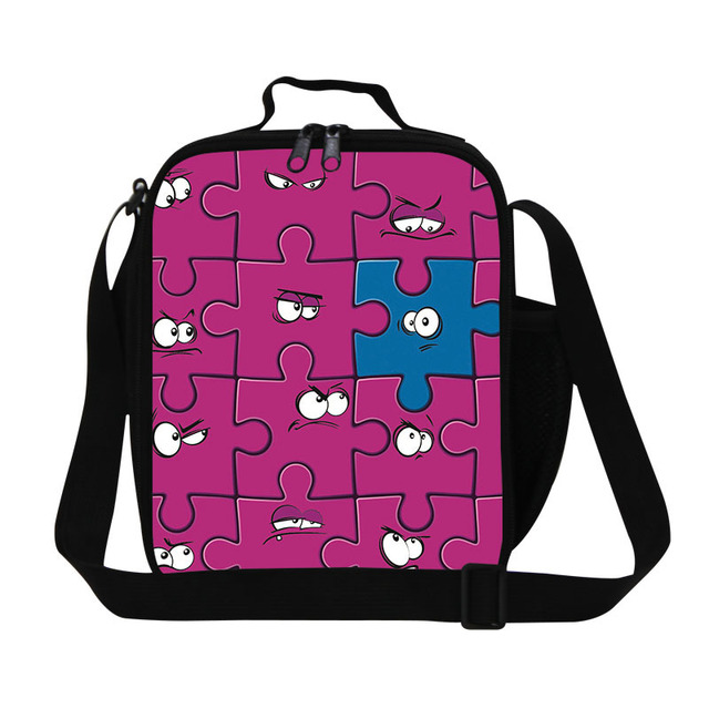 Cartoon priniting inner cool lunch bag cute shoulder lunch bag for children teen girls insulated lunch cooler bag meal bags
