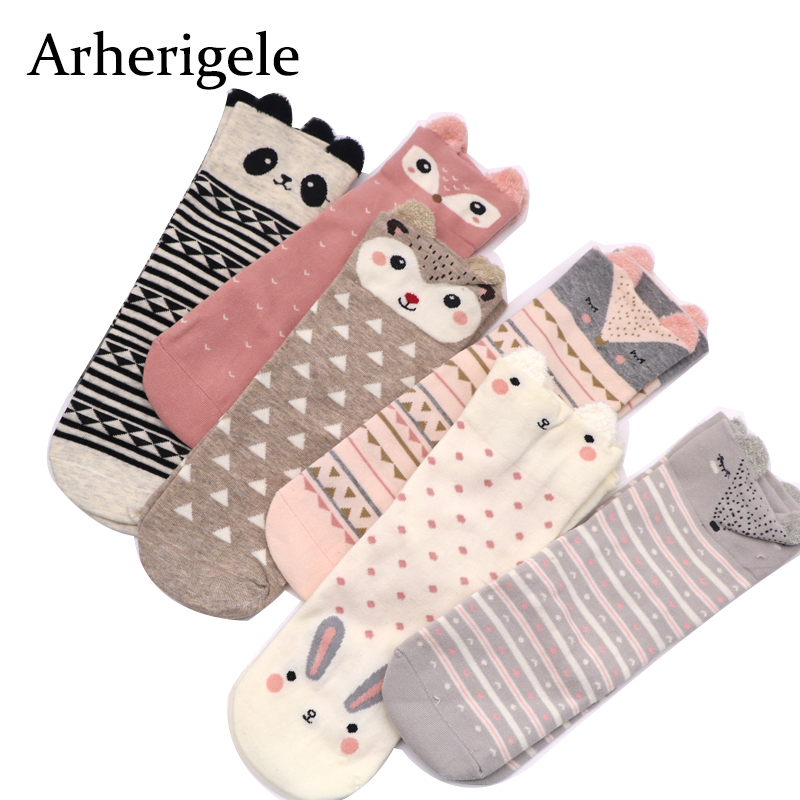 Arherigele Animal Women kawaii   Socks   Female Cotton   Sock   Meias 3D   Sock   Autumn Winter Warm   Socks   for Lady Girl Harajuku Calcetines