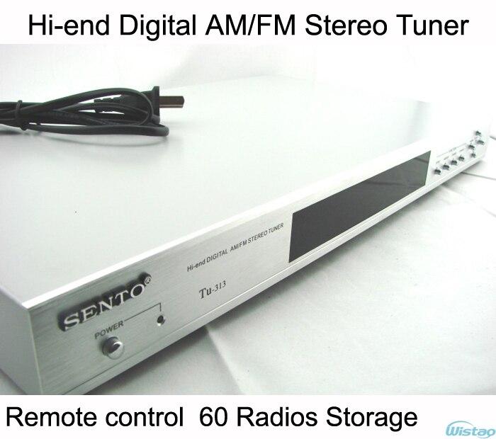 Salut-fin Numérique Stéréo AM/FM Tuner 60 Radio De Stockage Télécommande Argent