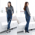 2016 New Fashion Girl Casual Washed Denim Jeans Overalls Women Pants Ladies Denim Jumpsuit Female Rompers Trousers Macacao