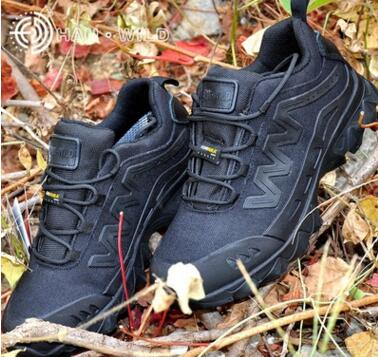 ФОТО Han wild HW09 ultralight combat boots commando 07 low outdoor climbing boots for camouflage