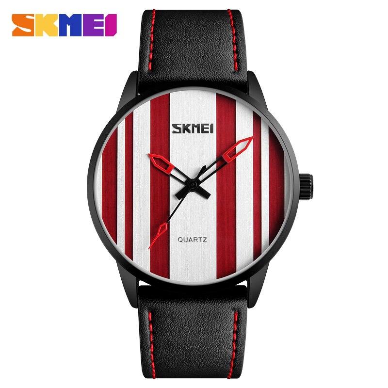 Homens SKMEI Moda Simples Relógios de Quartzo Marca De Relógios de Luxo de Negócios Pulseira de Couro À Prova D' Água relógio de Pulso Relogio masculino XFCS