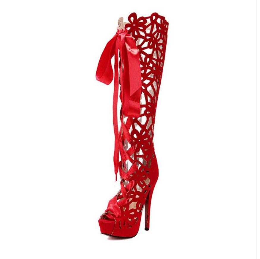 Botas Sandalias Sexy Mujeres Nocturno Zapatos Las De Club Xbdowcre redCxBoW