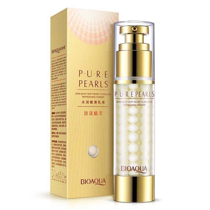 BIOAQUA Brand Pure Pearl Face Cream Skin Care Hyaluronic Acid Deep Moisturizing Anti Wrinkle Face Care Whitening Essence Cream
