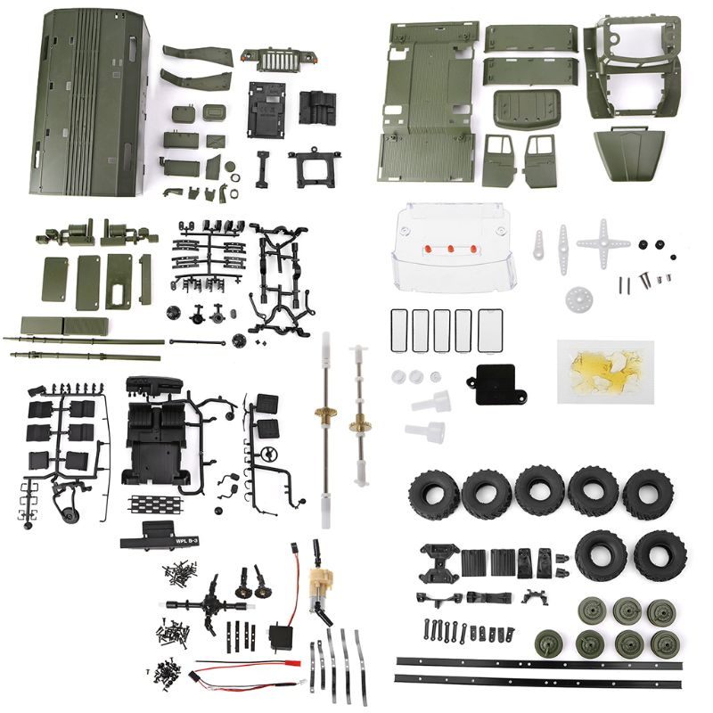 WPL B36 1:16 RC Car 2.4G 6WD Military Truck Rock Crawler Command Communication Vehicle Kit DIY Toys For BoysWPL B36 1:16 RC Car 2.4G 6WD Military Truck Rock Crawler Command Communication Vehicle Kit DIY Toys For Boys
