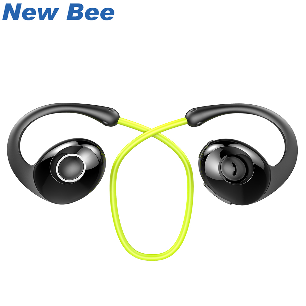 New Bee Headset Sport Bluetooth Earphone Wireless Headphones Snail Design HiFi Earbuds with Mic Pedometer App For Phone new bee nb 6 foldable bluetooth headset red