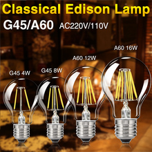 LED Filament Bulb E27 E14 G45 C35 Retro Edison Lamp 220V E14 Vintage Candle Light Dimmable Globe Ampoule Lighting COB Home Decor 3d fireworks retro edison bulb 4w e27 g125 led light home bar decor lighting colorful glass globe lamp 420lm ac85 265v