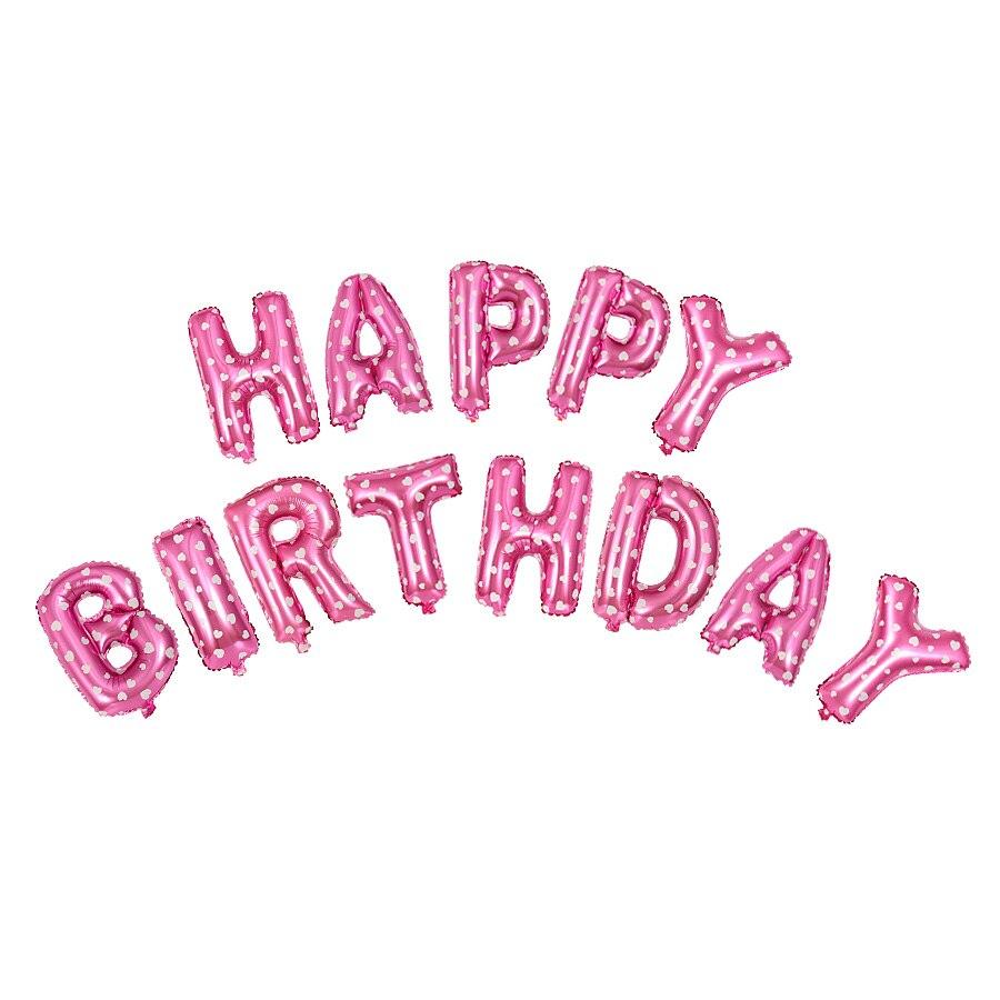 happy birthday buchstaben luftballons gold rosa blau aluminiumfolie ballon helium ballons f r. Black Bedroom Furniture Sets. Home Design Ideas