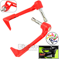 BJGLOBAL Universal Protector Red CNC Racing Curved Adjustable Motorcycle Brake and Clutch Levers Guard For Honda Suzuki Yamaha