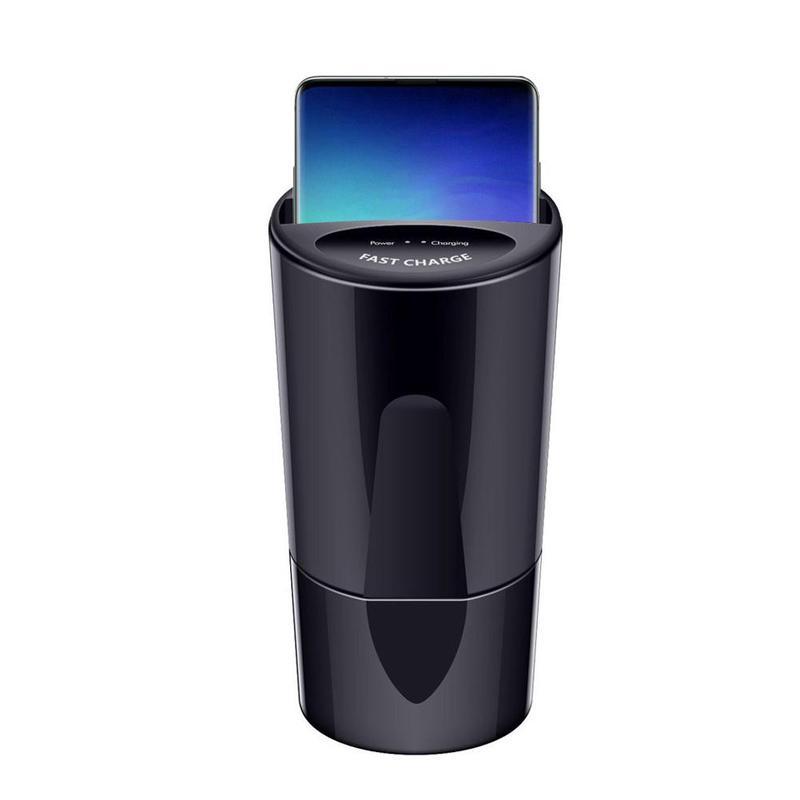 Быстрое беспроводное автомобильное зарядное устройство для samsung S9 S8 Note10 9 Qi Беспроводная зарядка Автомобильная чашка для iPhone XsMax/Xr/8 plus 10 Вт У