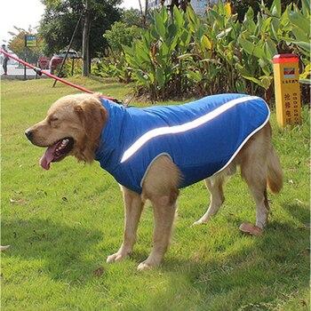 Waterproof Dog Clothes for Large Dogs Winter Warm Big Dog Jackets Padded Fleece Pet Coat Safety Reflective Design Dog Clothing 3