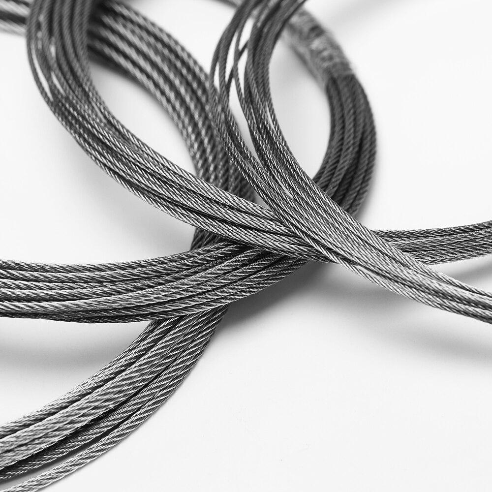 3/5/10 метр 304 Проволока из нержавеющей стали Веревка 1/1. 2/1. 5/2 мм Диаметр Стальная проволока веревка мягче Рыбалка тросе Структура