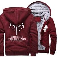 BRING ME THE HORIZON Letter Print Men S Sportswear 2018 Winter Fleece High Quality Hoodies For