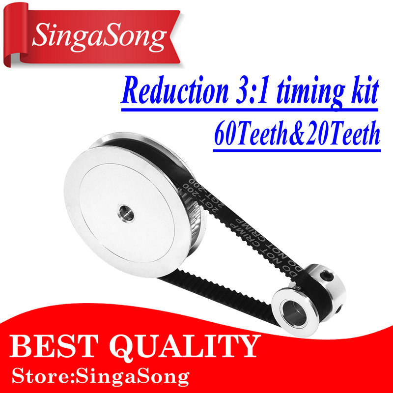 Pulley GT2 Timing-Belt 3d-Printer-Accessories Belt-Width Reduction 60teeth 10mm. Bore-5
