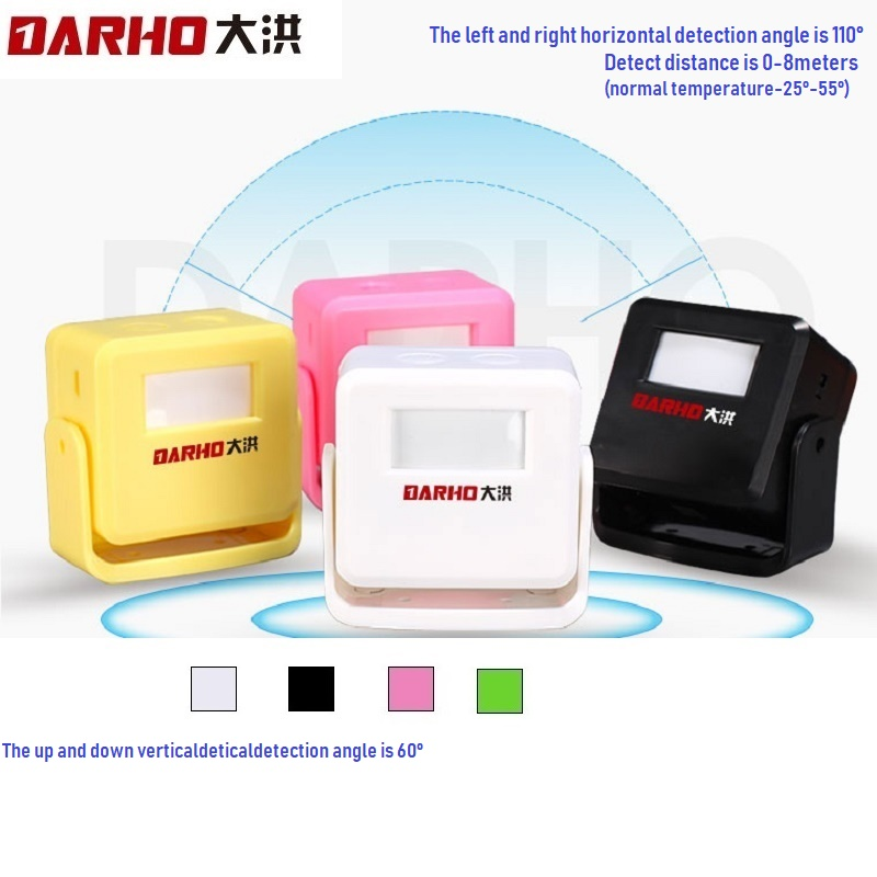 Darho Welcome Chime Alarm  Wireless Door Bell PIR Motion Sensor For Store Shop  Entry Security Infrared Detector Doorbell