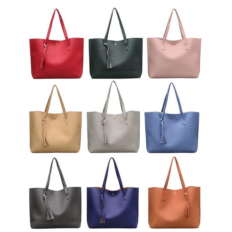 Fringe Handbags Shoulder Bag PU Large Capacity Ladies Handbags Bags WML99