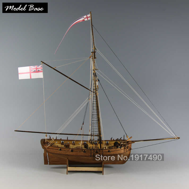 Wooden Ship Model Kits Educational Toy Model-Ship-Assembly DiyTrain Hobby Model-Wood-Boats 3d Laser Cut  Scale 1/64  LADY NELSON