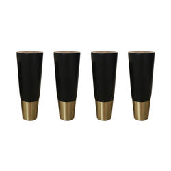 4,8x12,5 см простые Стильные резиновые деревянные ножки мебель ножки стол Шкаф ножки с железной пластиной и винтами