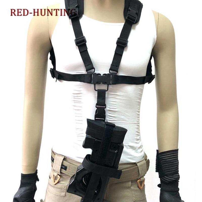 Pistola Cordão de Liberação Rápida ajustável Alça de Ombro 1000D Nylon P90 Rifle Sling Strap Chest Rig Ajuste Caça Airsoft Paintball
