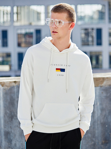 Image 2 - 파이어 니어 캠프 2020 새로운 봄 후드 스웨터 망 브랜드 의류 패션 인쇄 후드 스웨터 남성 블랙 화이트 AWY901024