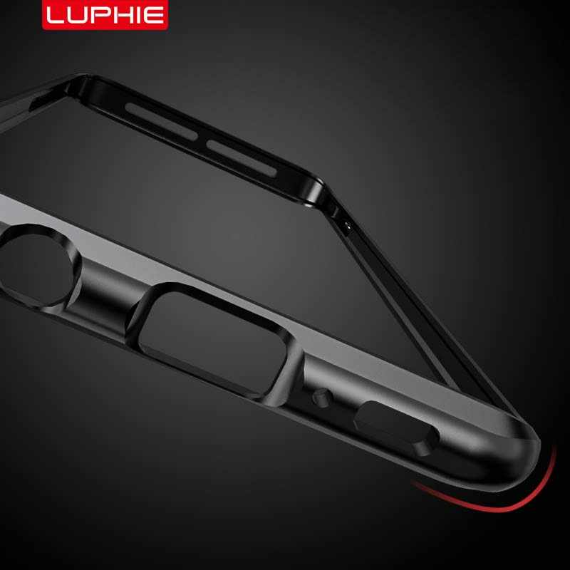 LUPHIE Luxury Metal Bumper Shockproof Case Ultra Thin Aluminum Bumper Frame Cover For Samsung Galaxy S10 S10Plus Case KS0048