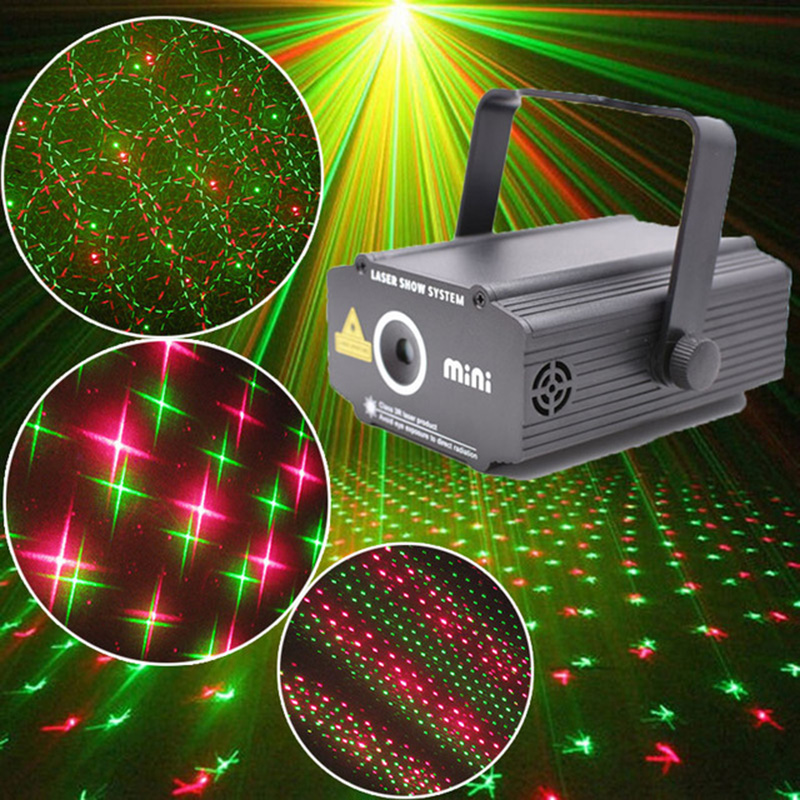 Mini Laser light Stage Lighting Effect Pattern Disco Club Bar Party Projector Show Laser Projector new mini laser star club projector stage lighting