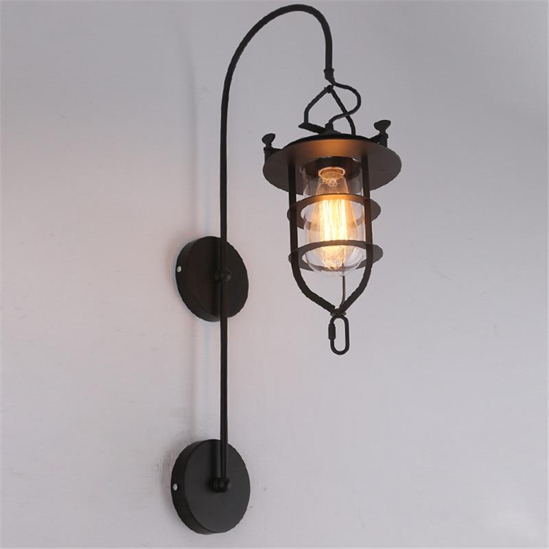 Nordic LOFT Industrial wall lamp Wind American style Retro Nostalgic  Design Metal Art Wall Light Lighting Fixture free shipping|Wall Lamps|Lights & Lighting - title=
