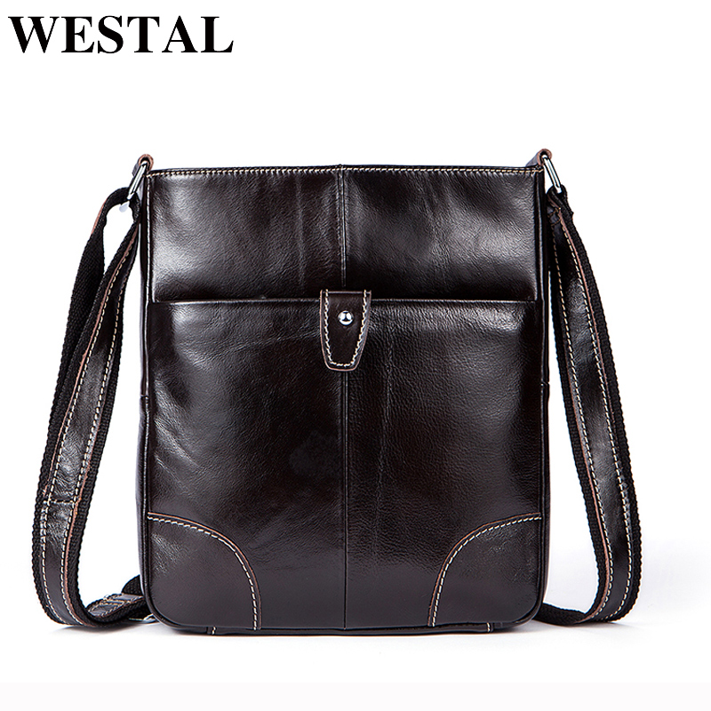 WESTAL Male Bag Genuine Leather Shoulder Crossbody Bags for Men Messenger Bag Men Shoulder Bags Genuine Leather Flap 7903 westal casual messenger bag leather men shoulder crossbody bags for man genuine leather men bag small flap male bags bolsa new