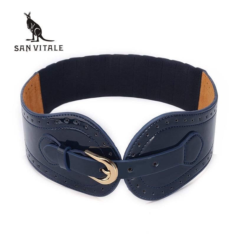 Women's Cummerbunds Belts Gift Waistband Gold Waist Famous Brand For Skirt Leather Woman Black Stretch Buckles For Dress Buckle