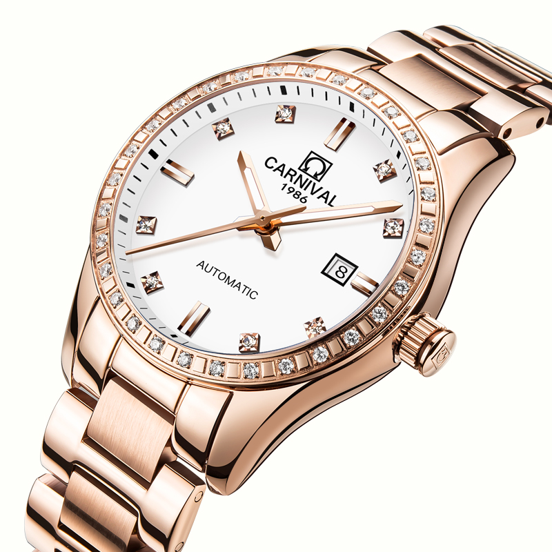 Здесь продается  Switzerland Carnival Women Watches Luxury Brand ladies Automatic Mechanical Watch Women Waterproof relogio feminino 8685L-2  Часы