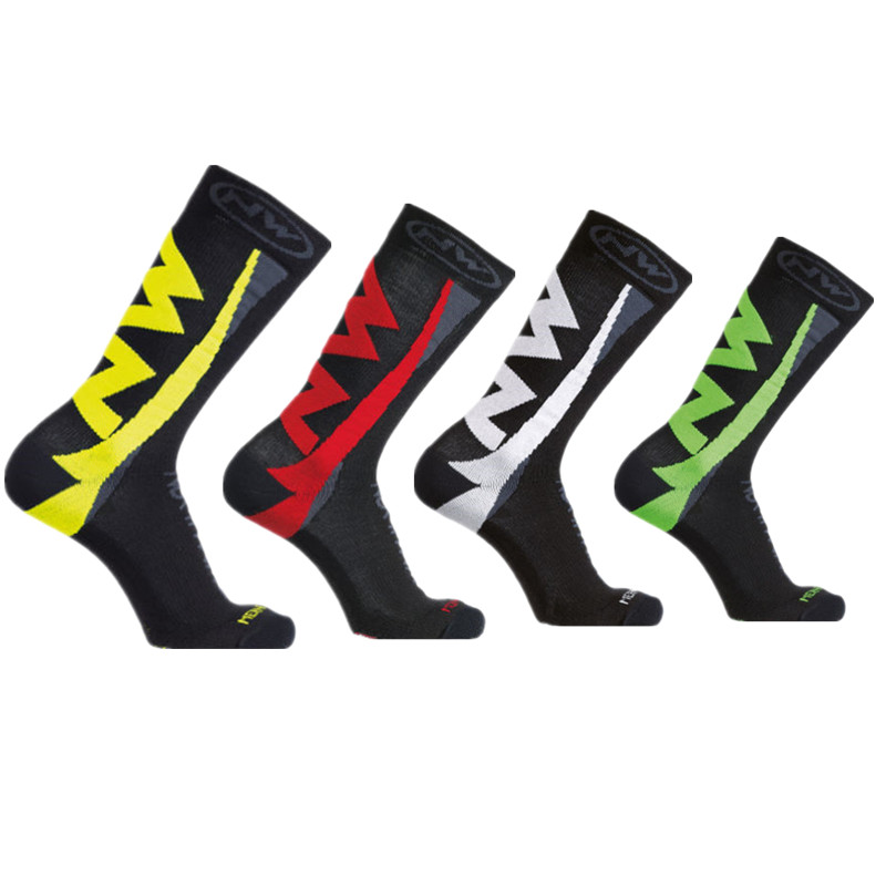 New 2019 Autumn And Winter Thick Cycling Socks Men Sport Outdoor Bikes Socks Calcetines Ciclismo