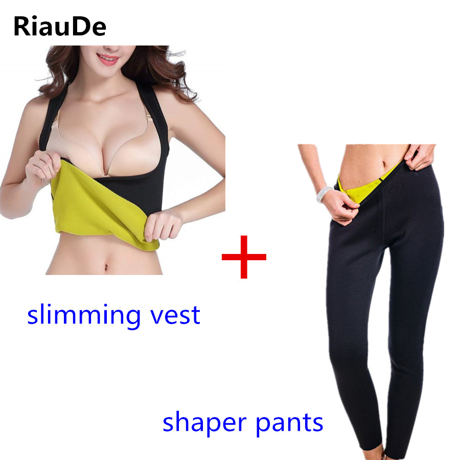 121d5bb93e Slimming Pants hot Shapers Vest Waist Trainer Neoprene Women Body Shapers  Suit Pants Vest Sweat Sauna Fitness Control Pants Vest