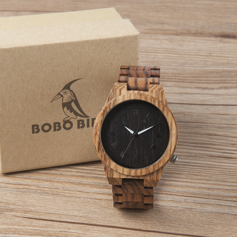 magic wooden box with extra secure secret drawer 2017 BOBO BIRD Luxury Watch Men Wooden Watches Wood Band with Wooden Drawer Box Wristwatch relogio masculino B-M30