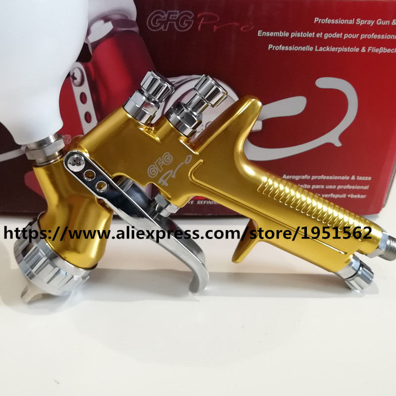 SPRAY GUN GFG pro England Professional 1.3mm Gravity Feed free shipping auto paint painted high efficiency devilbiss spray gun gfg pro red page 5